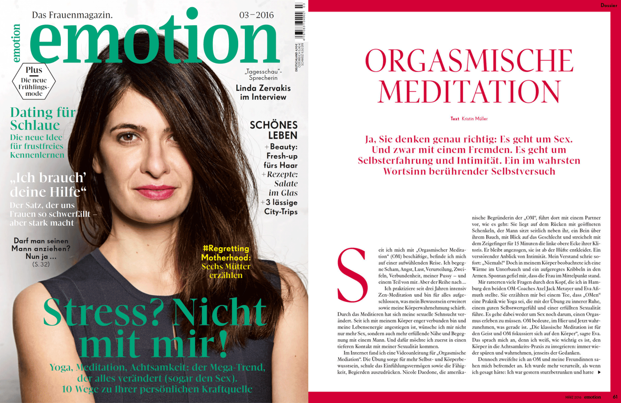 OM im Emotion Magazin, Teil 1